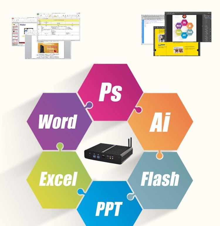 8G RAM+128G SSD+1T HDD Thin client,nettop intel NUC i7 5557u mini pc computer,2*Gigabit LAN+2*HDMI,SD card,300M WIFI, micro pc