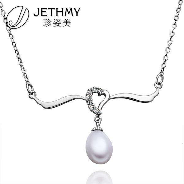N002 Wholesale Women Wedding Accessories Necklace 18K Gold Austrian Crystal Necklace Pearl Jewlery Vintage Statement collar