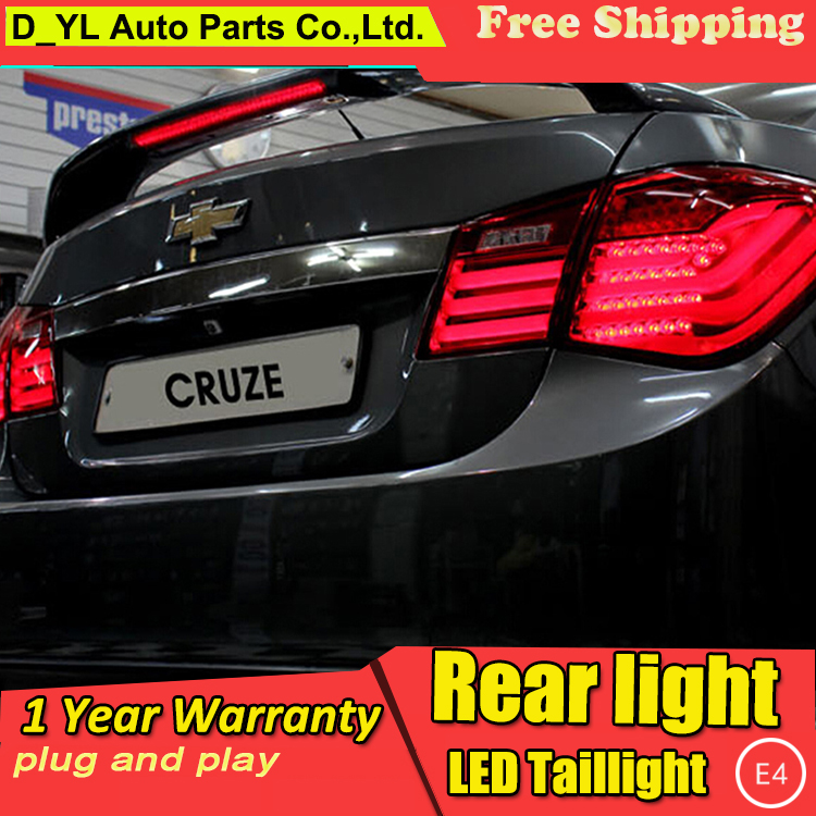 D_YL Car Styling for Chevrolet Cruze Taillights BMW Design 2012 Cruze LED Tail Lamp Rear Lamp DRL+Brake+Park+Signal led light(China (Mainland))
