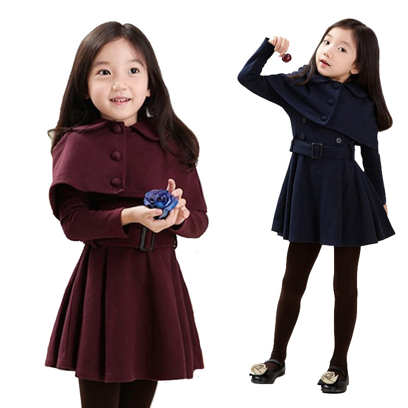 Girl dress baby kids clothes 2015 winter new fashion high quality cotton brand children clothing princess girl party dress(China (Mainland))