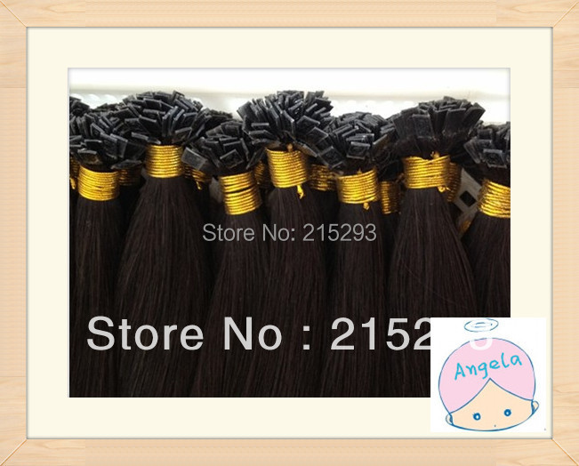 TOP18-28 Cuticle no chemical process virgin flat tip  1g/strand 100g /pack pre-bonded  human hair extension<br><br>Aliexpress