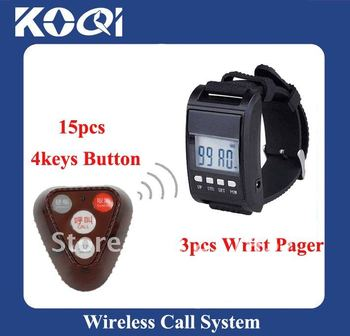 433.92mhz  Wireless Calling systems ,15 Call Bells and 3 Watches; Freeshipping by DHL/EMS