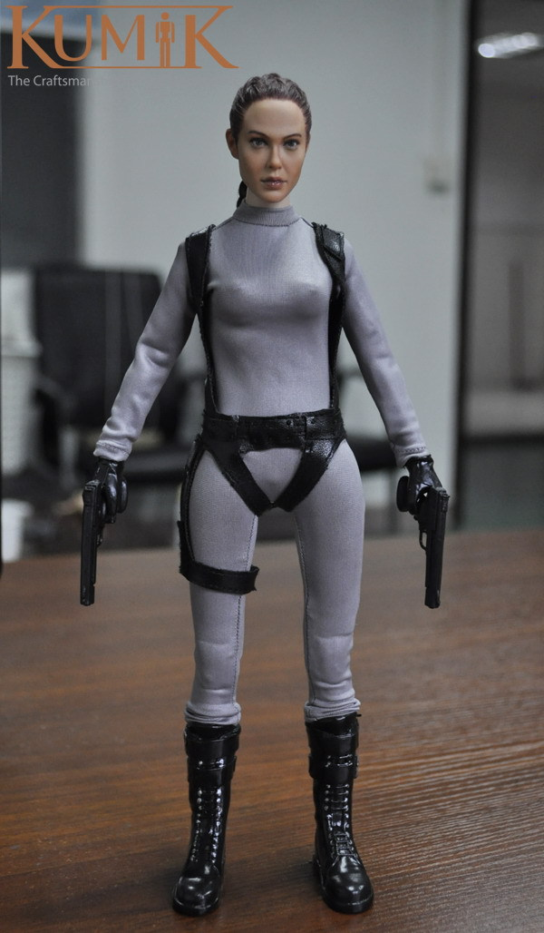 """Original Kumik KMF033 1/6 Tomb Raider Laura Angelina Jolie outfit-2 Set for 12"""" collectible action figure in stock Free shipping(China (Mainland))"""