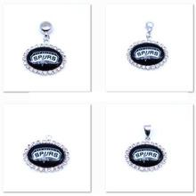 Buy Pendant Charms Rhinestone San Antonio Spurs Charms Basketball Sports Dangle Charms Women Men Diy Jewelry Fashion 2017 for $8.46 in AliExpress store