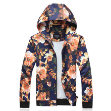 Free shipping New Spring 2014 Men Fashion Hip Hop Designer Brand Floral Hoodie, Mens Hoodies and Sweatshirts Outdoors Man hoody(China (Mainland))