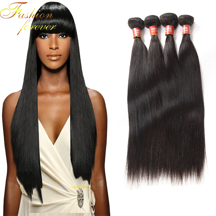 Unprocessed Brazilian virgin hair straight Rosa hair products 4 pcs Brazilian straight hair extension human hair weave bundles