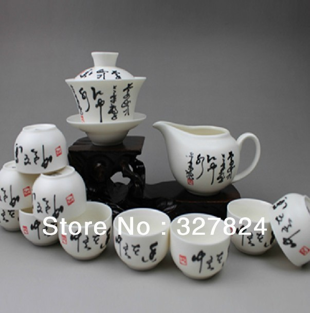 Freeshipping For tea ,ceramic kung fu tea set China tea pot