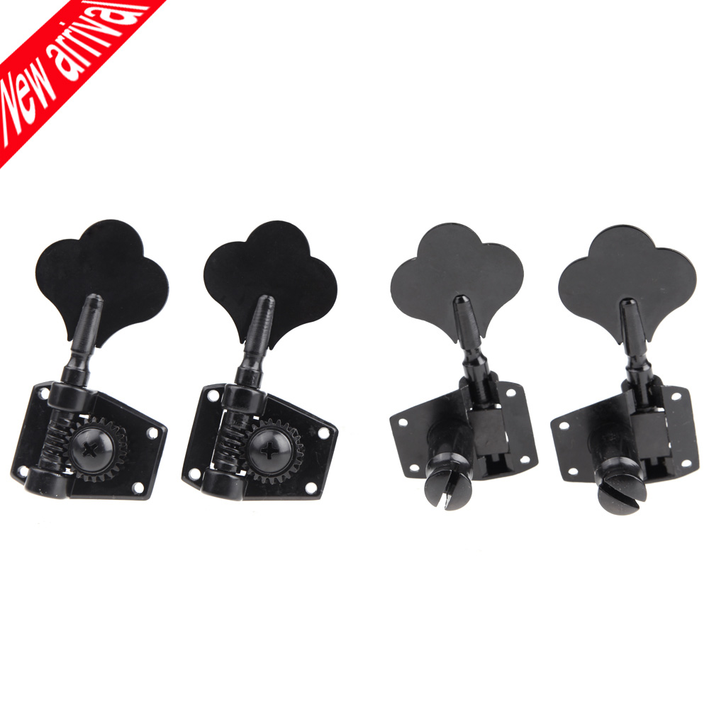 4pcs/set 4R Black Electric Bass Tuners Machine Heads Tuning Pegs Keys Set With Mounting Screws & Ferrules Guitar Parts(China (Mainland))
