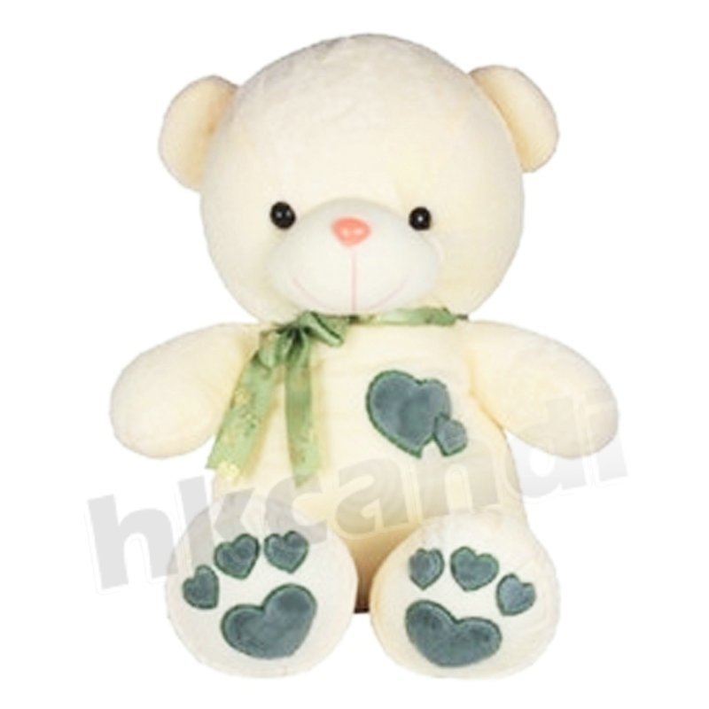soft toys bowknot blue Heart teddy bear 45cm love GIFT soft toys for gril lady n102(China (Mainland))
