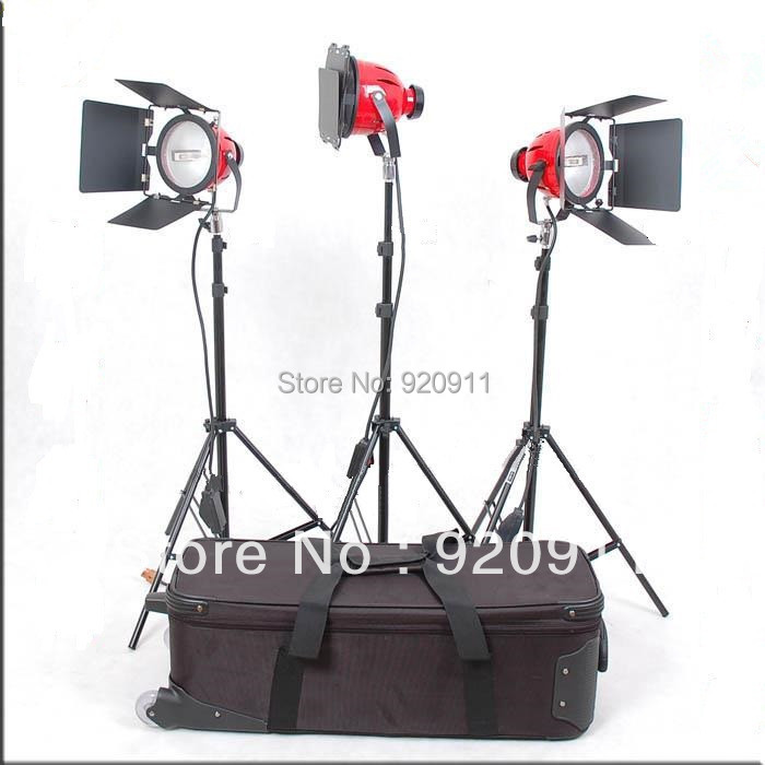 Continuous Lighting Redhead Focusing Soft Light 800w For Film&Camera No Dimmer Set 3 Light 3 Stand 3 Bulb(China (Mainland))