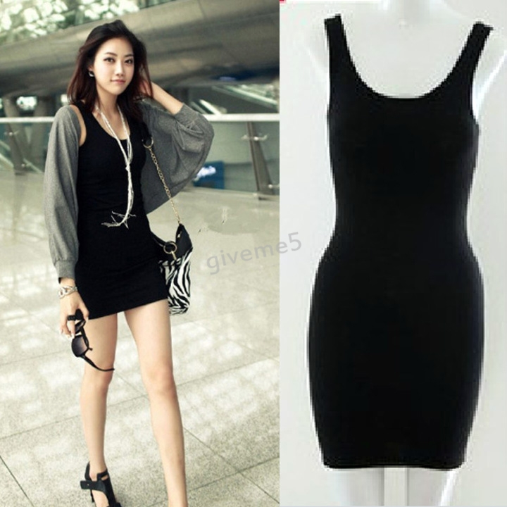 Popular Long Tank Dress Slim Tight-Buy Cheap Long Tank Dress Slim ...