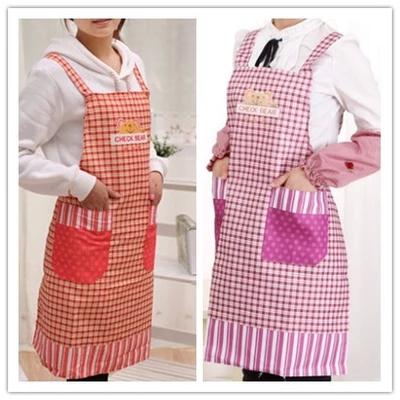 1PCS New Classic Grid Apron Kitchen Aprons with Pocket Women Girls Cooking Bib Sleeveless Cleaning Apron Free Shipping(China (Mainland))
