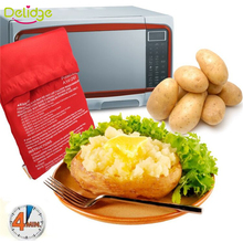 2 Pcs/Lot Oven Microwave Baked Red Potato Bag For Quick Fast( cook 8 potatoes at once )  In Just 4 Minutes Washed Potato Bags(China (Mainland))