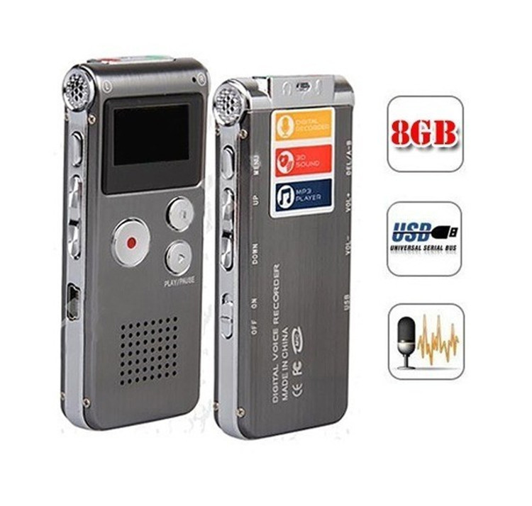 External Mic 650Hr 8GB Voice Activated USB Digital Audio Voice Recorder Dictaphone MP3 Telephone Record With Retail Box(China (Mainland))
