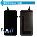 Tested Lcd Screen For Lenovo S580 LCD Display With Touch Screen Digitizer Assembly Tools
