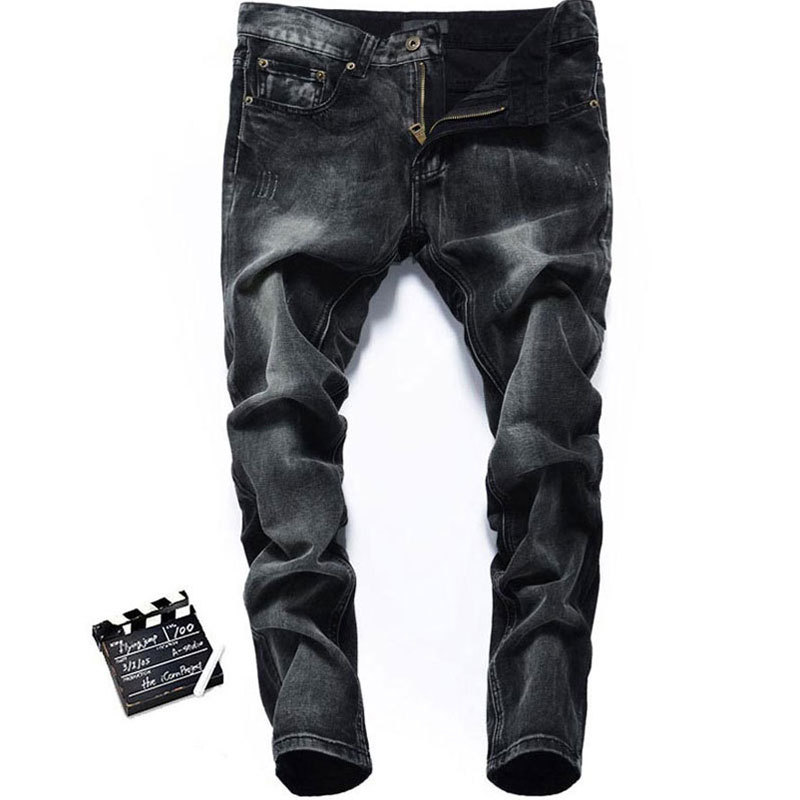 Italy Famous Brand D Men Jeans.Printed Jeans,White Washed,Black Color,Straight Denim Cotton Mens Jeans,Size 29-42,Retail,2035