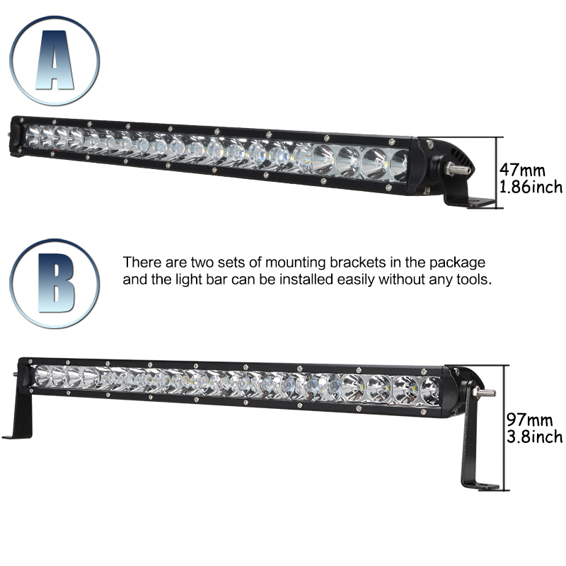 1 pc 21 Inch 100w Led Work Light Bar Combo Double Row Off Road Led Light Bars 100w Cree Chips Work Working Drive Driving Bulb(China (Mainland))