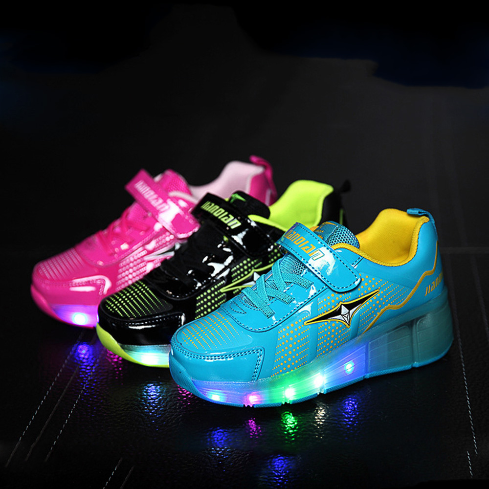 Child Heelys Girls Boys LED Light wHeelys Roller Skate Shoes For Children Kids Sneakers With Wheels Zapatillas Con Ruedas