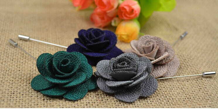 (20 pieces/lot) Fashionable and generous delicate and cabinet joker camellia Manual corsage, men women brooch 4 cm diam.<br><br>Aliexpress