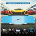 Dual Lens Registrar Camcorder 5 Inch Rearview Mirror Novatek Full HD 1080P Car DVR With Free