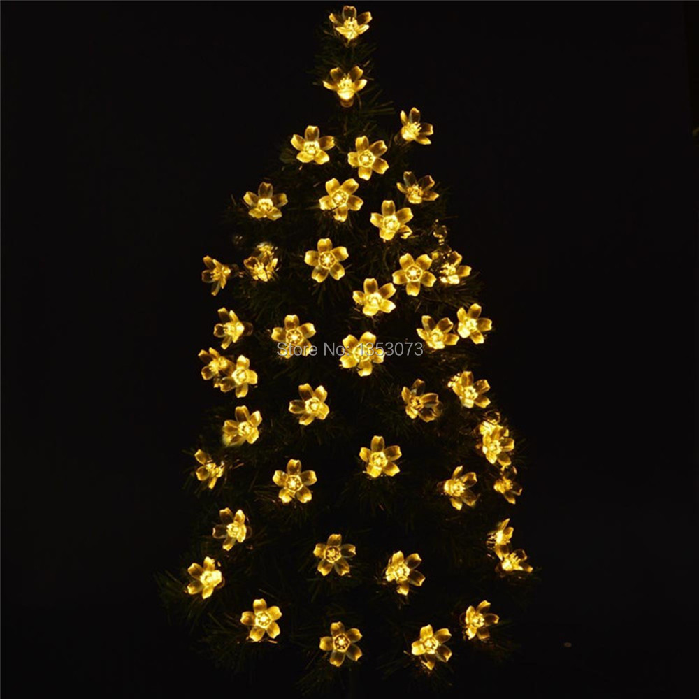 Dried flowers Tree LED Light Natural Branches 10m Cherry Blossoms Tree Room Ornament holiday/Christmas/Party Light String LED
