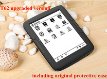 e-reader BOYUE T62+ and cover dual core 8G eink touch screen backlight  Android WIFI ebook reader include pu case free shipping(China (Mainland))