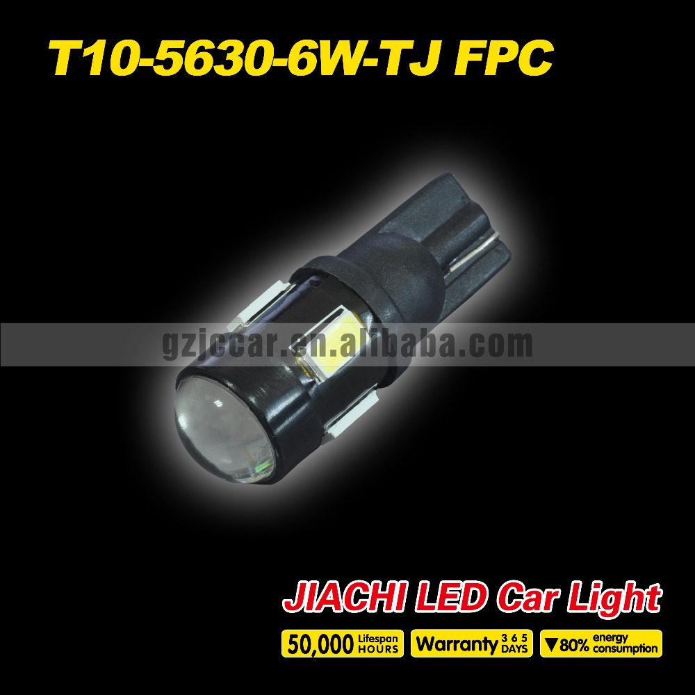 2015 new design high lumens quality ,100pcs/lot 12v w5w 194 t10 5630 6smd car led interior light from china high products(China (Mainland))
