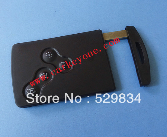 Free shipping Replacement key shell for Renault Clio 4 button remote key blank WITH KEY BLADE  wholesale and retail