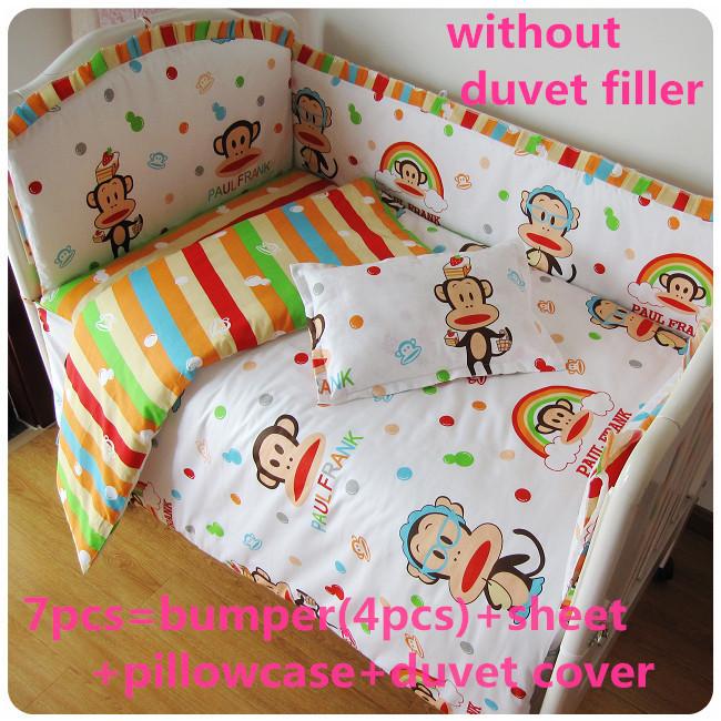 Акция! 6/7шт малышей постельных принадлежностей бампер детского постельного белья,новорожденных наборы в кроватку,120*60/120*70см