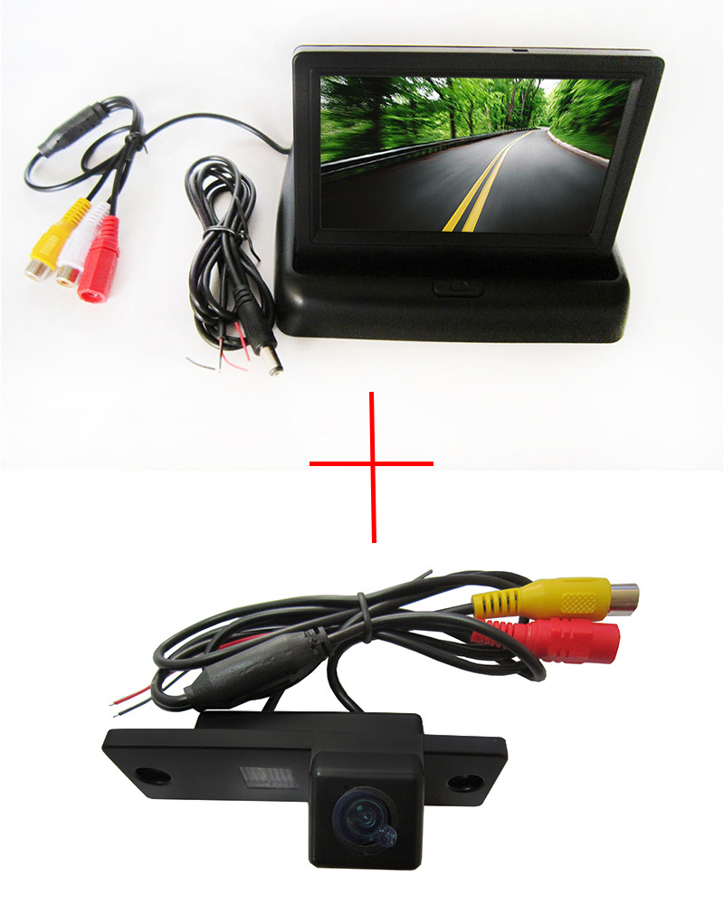Color CCDHi-definition Color CCD Car Rear View Camera for Toyota 4Runner / Land Cruiser Prado 2010 ,with 4.3 InchLCD TFT Monitor(China (Mainland))