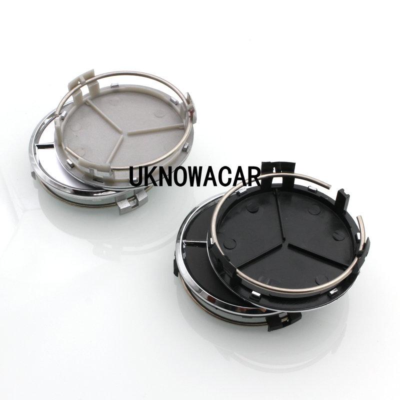20pcs/lot,Car Wheel Center Hub Caps Emblem For Mercede Benz Silver Black With ABS Chrome Star Logo(China (Mainland))
