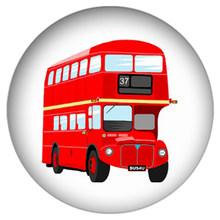 Zdying 5 Pcs Vintage Merah London Bus Bulat Kaca Cabochon Dome Demo Manik-manik Datar Kembali Membuat Temuan untuk Gantungan Kunci Kalung bros(China)