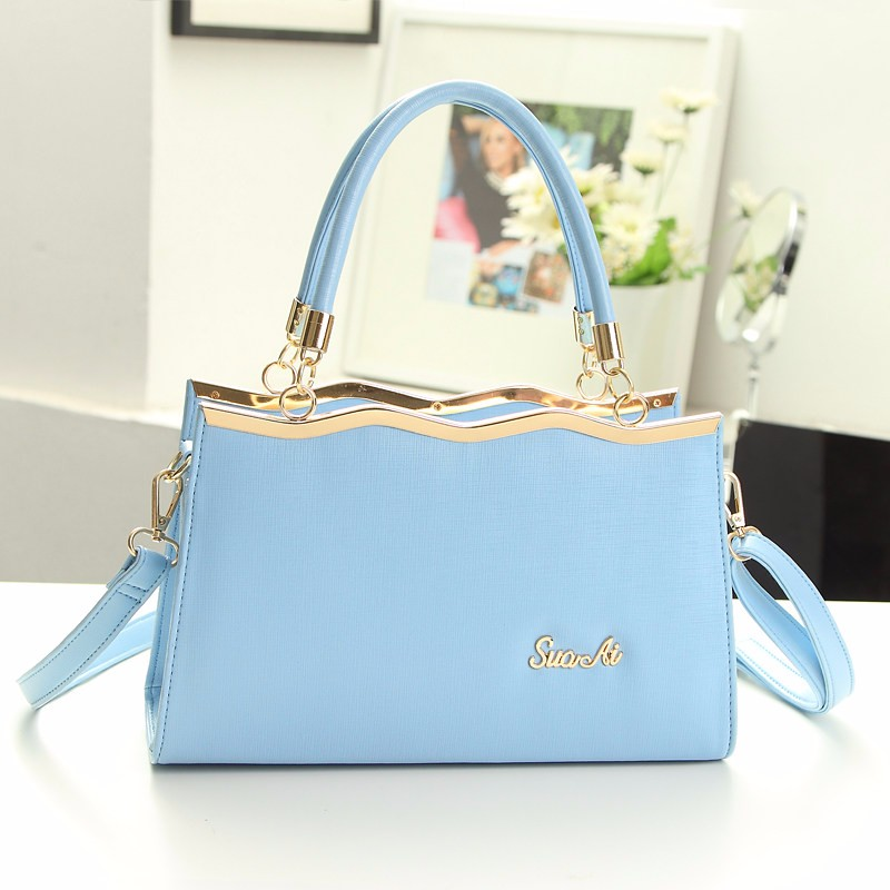 Women Ladylike Handbag Sweet Style Top Quality Hand Bag Gorgeous Plain PU Leather Shoulder Bag Lady Designer Large Crossbody Bag