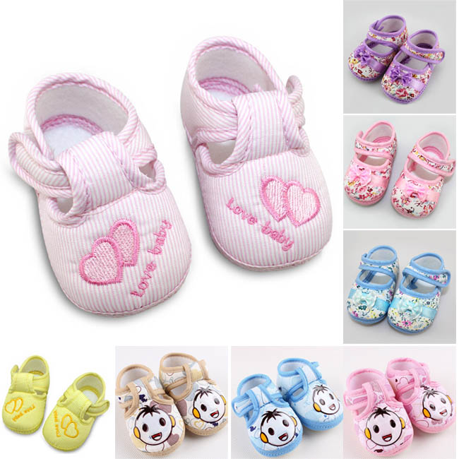Cute Lovely 12 Styles Baby Boys Girls loop Comfortable walker shoes size 3(China (Mainland))
