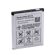 New Original BST-33  Phone Battery for Sony Ericsson K530 K550 K550i K630 K660i K790 K790i K800 K800i K810 K810i