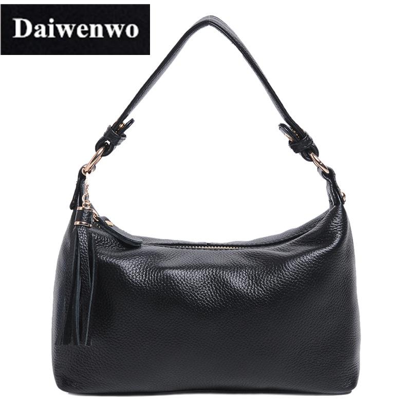 J05 Brand Women Natural Skin Shoulder Bags Hobos Tassel Handbags For Women Black Brown Genuine Leather Ladies Messenger Bags(China (Mainland))