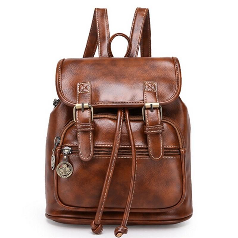 England College Preppy Style Women Leather Backpack Lady Backpacks Girls Travel School Shoulder Bag Mochila Pack Bolsa Feminine