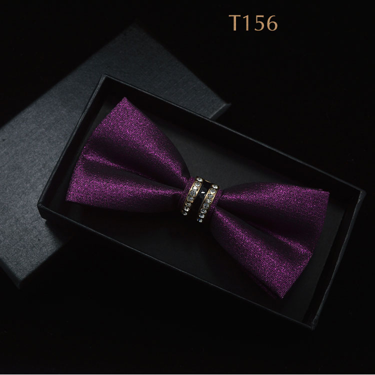 Jacquard Floral Bow Tie Cashew Flowers Rose Butterfly Knot Metal Buckle Crystal Cravats Men Women Grooms Banquet Wedding Meeting(China (Mainland))