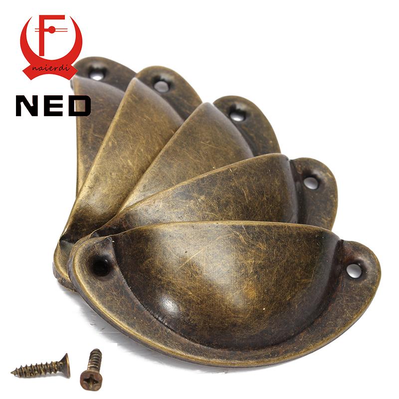 NED 20PCS Retro Metal Kitchen Drawer Cabinet Door Handle ...