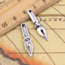 Buy 10pcs Charms vintage ink pen nib 32*7mm Tibetan Silver Plated Pendants Antique Jewelry Making DIY Handmade Craft for $1.29 in AliExpress store