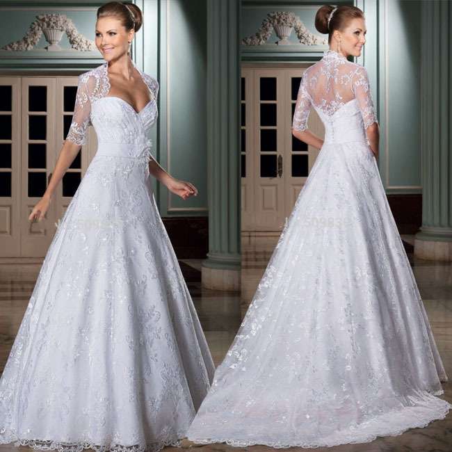 Vestidos de noivas 2014 long sleeve unique wedding dress for Cheap wedding dress from china