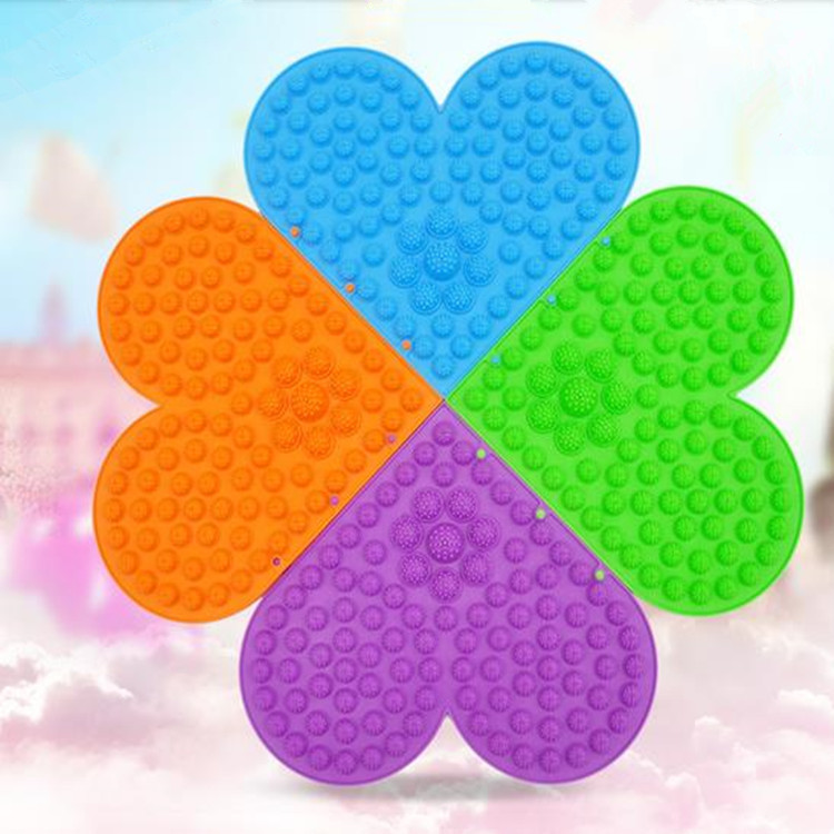 2015 Freeshipping Sell Crazy 5Colors Heart LOVE Shape Plate Massage & Relaxation(buy five send you one)(China (Mainland))