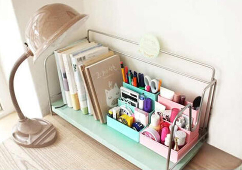 High Quality DIY Hard Paper Board Storage Box Desk Decor Stationery Makeup Cosmetic Organizer for Jewelry Stationery Hussif(China (Mainland))