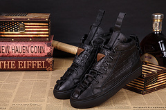 Patrick Mohr sneakers shoes casual high help black lace-up 39 male money - 46  -  South China foreign trade store
