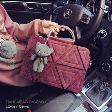 Hot Sale Triangular Decoration Handbag Ladies Casual Business Bag Free Shipping<br><br>Aliexpress
