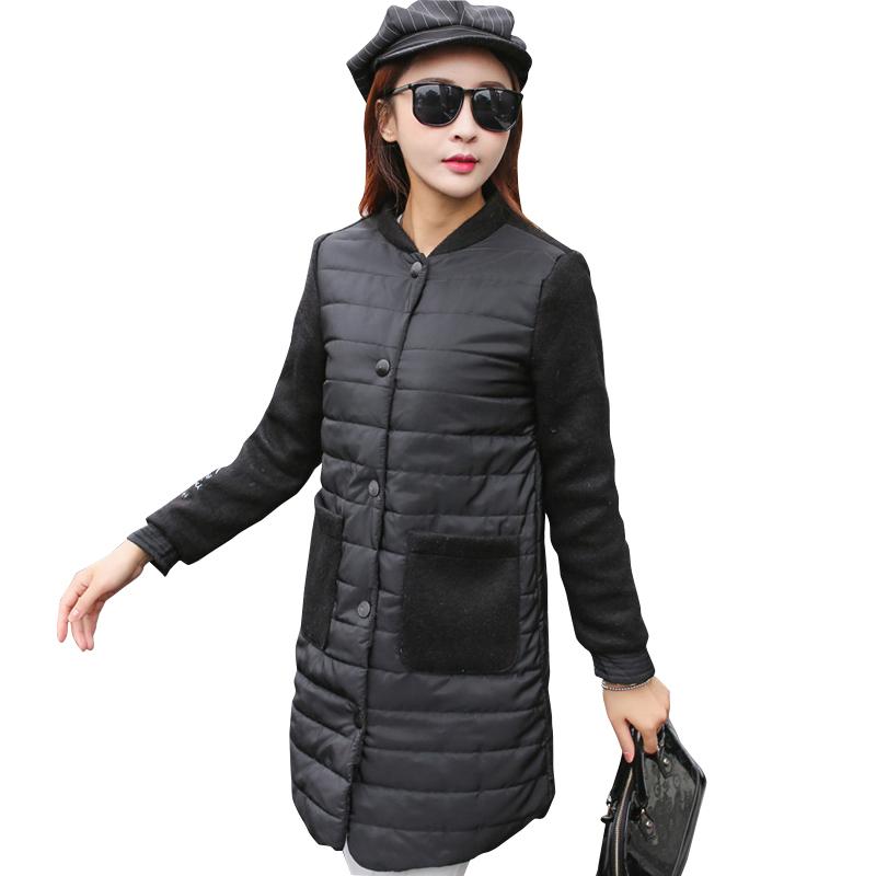 2017 New Spring Parka Jacket Women Winter Coat Womens Medium-Long Cotton Padded Warm Jacket Coat High Quality Hot Sale(China (Mainland))