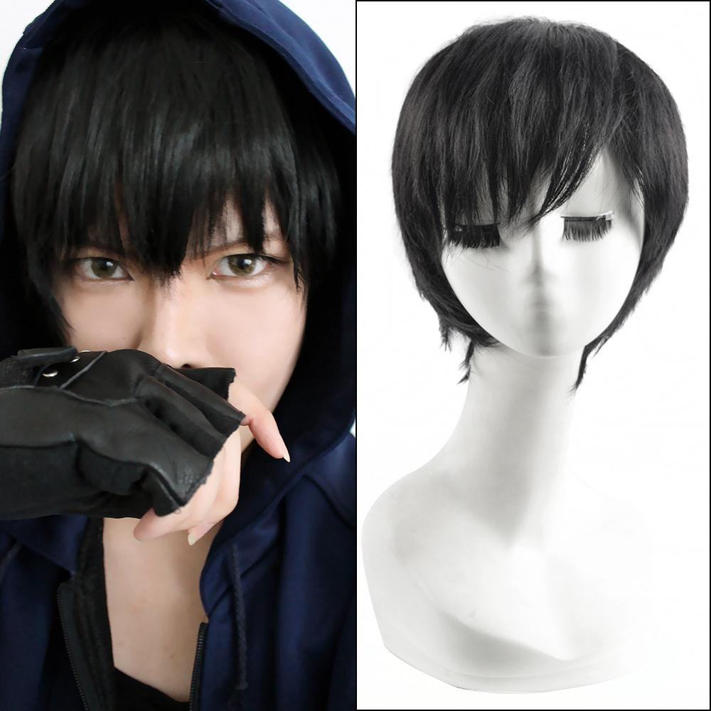Free Shipping HoT SELL Karneval GAREKI Short Black Cosplay Party wig CC54+a wig cap<br><br>Aliexpress