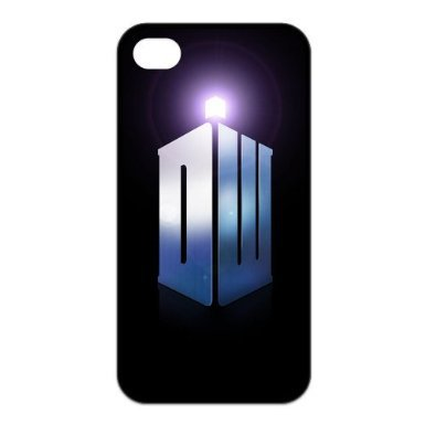 Custom Fashion TV Show Box Doctor Who Logo Durable Hard Plastic Case Cover for iPhone 4 4s Phone Cover(China (Mainland))