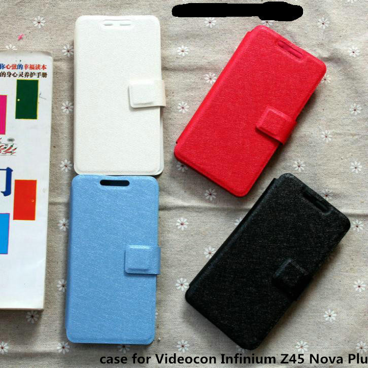 Universal leather phone cover case for Videocon Infinium Z45 Nova Plus case cover(China (Mainland))