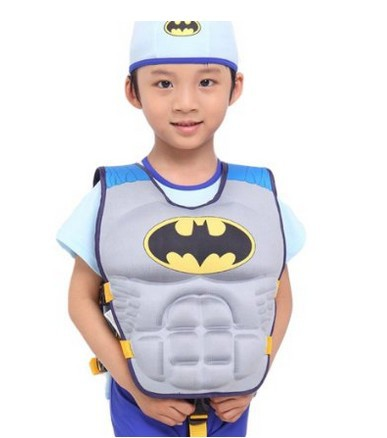 Children's Cool Superman Spiderman Batman Life Jackets Kids Swimming vest 3~8YRS(China (Mainland))
